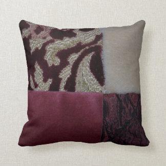 Coussins texturisés de tissu de velours
