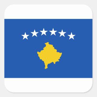 Coût bas ! Drapeau de Kosovo Sticker Carré