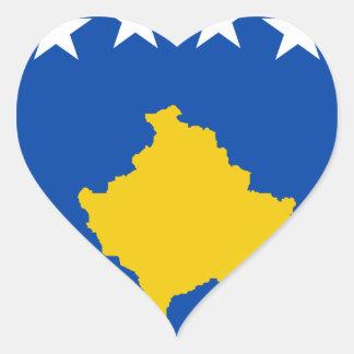 Coût bas ! Drapeau de Kosovo Sticker Cœur