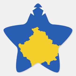 Coût bas ! Drapeau de Kosovo Sticker Étoile