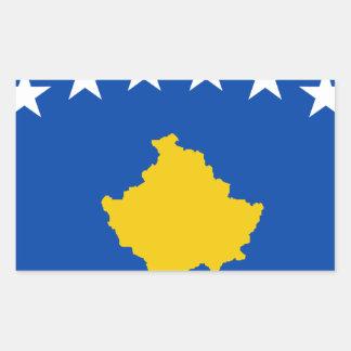 Coût bas ! Drapeau de Kosovo Sticker Rectangulaire