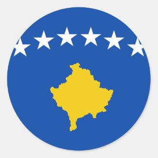 Coût bas ! Drapeau de Kosovo Sticker Rond