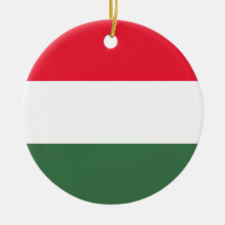 Coût bas ! Drapeau de la Hongrie Ornement Rond En Céramique
