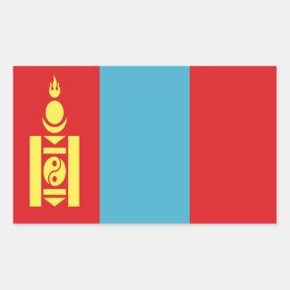 Coût bas ! Drapeau de la Mongolie Sticker Rectangulaire