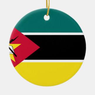 Coût bas ! Drapeau de la Mozambique Ornement Rond En Céramique