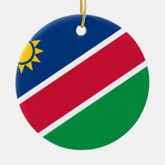 Coût bas ! Drapeau de la Namibie Ornement Rond En Céramique