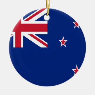 Coût bas ! Drapeau de la Nouvelle Zélande Ornement Rond En Céramique