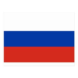 Coût bas ! Drapeau de la Russie Carte Postale