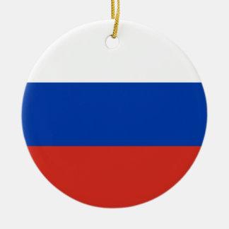 Coût bas ! Drapeau de la Russie Ornement Rond En Céramique