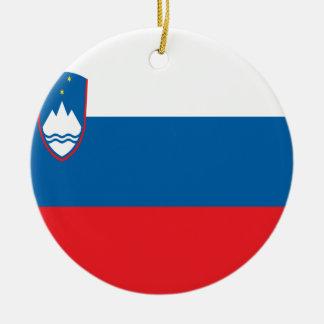 Coût bas ! Drapeau de la Slovénie Ornement Rond En Céramique