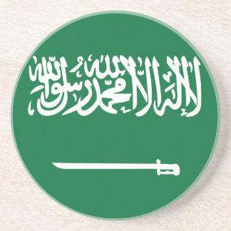 Coût bas ! Drapeau de l'Arabie Saoudite Dessous De Verre En Grès