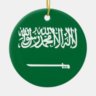 Coût bas ! Drapeau de l'Arabie Saoudite Ornement Rond En Céramique