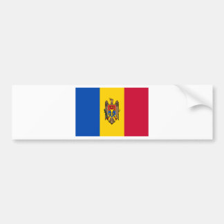 Coût bas ! Drapeau de Moldau Autocollant Pour Voiture