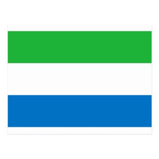 Coût bas ! Drapeau de Sierra Leone Carte Postale