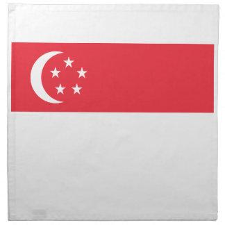 Coût bas ! Drapeau de Singapour Serviettes