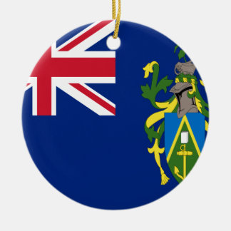 Coût bas ! Drapeau d'îles de Pitcairn Ornement Rond En Céramique