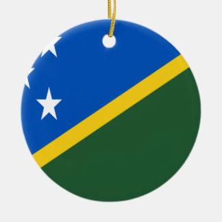 Coût bas ! Drapeau d'îles Salomon Ornement Rond En Céramique