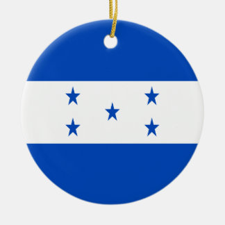 Coût bas ! Drapeau du Honduras Ornement Rond En Céramique