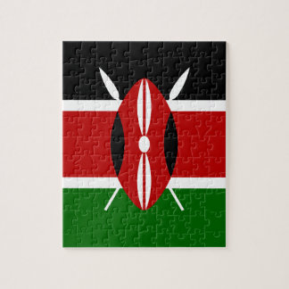 Coût bas ! Drapeau du Kenya Puzzle