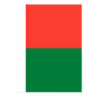 Coût bas ! Drapeau du Madagascar Cartes Postales