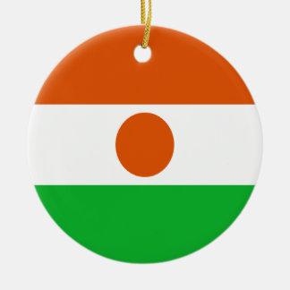 Coût bas ! Drapeau du Niger Ornement Rond En Céramique