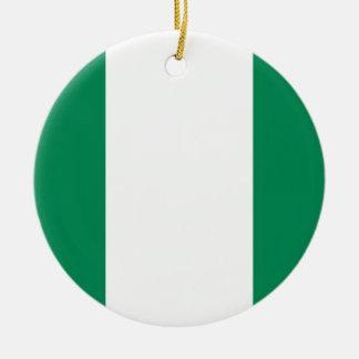 Coût bas ! Drapeau du Nigéria Ornement Rond En Céramique