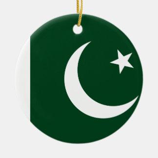 Coût bas ! Drapeau du Pakistan Ornement Rond En Céramique