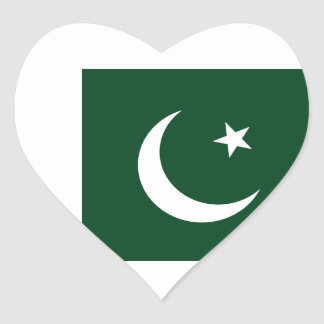 Coût bas ! Drapeau du Pakistan Sticker Cœur