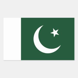 Coût bas ! Drapeau du Pakistan Sticker Rectangulaire