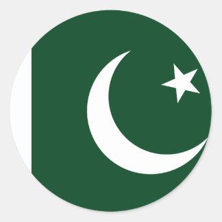 Coût bas ! Drapeau du Pakistan Sticker Rond