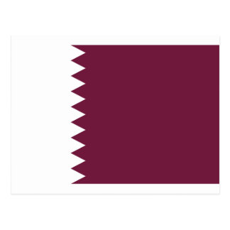 Coût bas ! Drapeau du Qatar Carte Postale