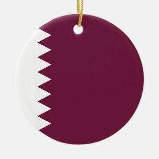 Coût bas ! Drapeau du Qatar Ornement Rond En Céramique