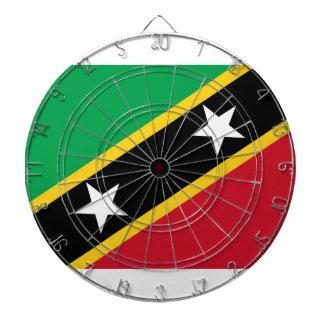 Coût bas ! Saint Kitts et drapeau du Niévès Cible De Fléchettes