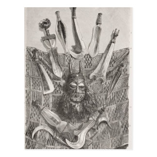 Couteaux, masque et tapis du Congo supérieur Carte Postale