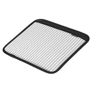 Coutil étroit de matelas de blanc gris de charbon housses iPad