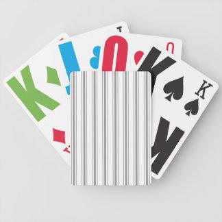 Coutil étroit de matelas de blanc gris de charbon jeux de cartes