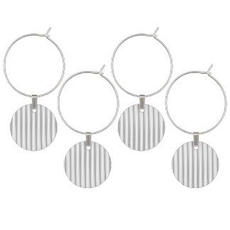 Coutil étroit de matelas de blanc gris de charbon marque-verre