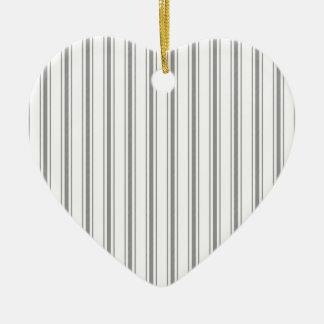 Coutil étroit de matelas de blanc gris de charbon ornement cœur en céramique