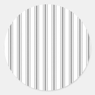 Coutil étroit de matelas de blanc gris de charbon sticker rond