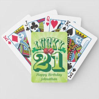 Coutume 21 chanceuse jeux de cartes