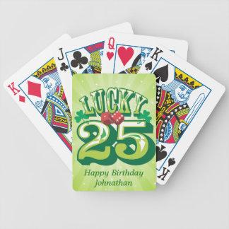 Coutume 25 chanceuse jeux de cartes