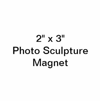"Coutume 2"" x 3"" aimant de sculpture en photo magnet photo sculpture"