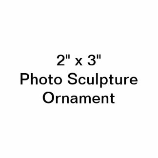 "Coutume 2"" x 3"" ornement de sculpture en photo ornement photo sculpture"