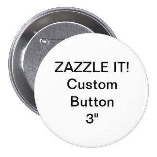 """Coutume 3"""" modèle vide de Pin d'insigne de bouton Badges"""