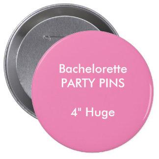 """Coutume 4"""" ROSE rond énorme de Pin de partie de Badge"""