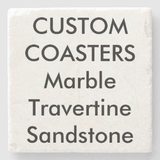 """Coutume 4"""" vrais dessous de verre de marbre en dessous-de-verre en pierre"""