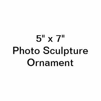 """Coutume 5"""" x 7"""" ornement de sculpture en photo photo en découpe"""