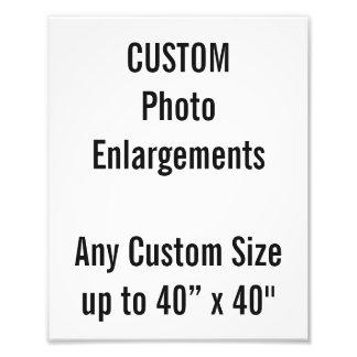 """Coutume 8"""" x10"""" élargissement de photo jusqu'à 40"""""""