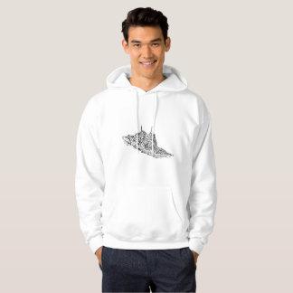 Coutume à capuchon de base du sweatshirt des