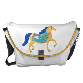 Coutume bleue de collection de cheval tout plus de sacoches